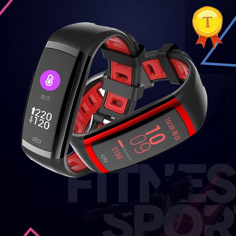 Delizioso Più Nuovo Rosso Intelligente Bracelect Schermo A Colori Wristband Business Women Fitness Ip67 Impermeabile Intelligente Banda Monitor Di Frequenza Cardiaca Smartband