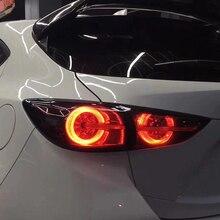 รถยนต์สำหรับ MAZDA 3 ไฟท้าย 2014 2018 Mazda3 Axela Hatchback ไฟท้าย LED โคมไฟ LED DRL เบรคย้อนกลับ Auto อุปกรณ์เสริม