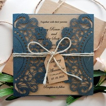 Black Wedding Invitations Rustic Invitation for - Set of 50