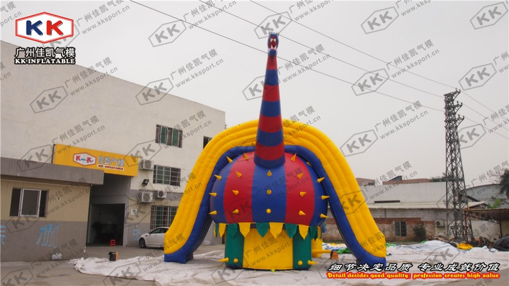 Открытый Динозавров огромный надувные слайд сухой или влажной