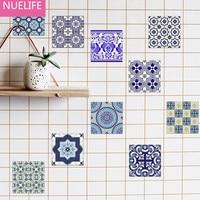 10 unids 22x22x0.5 cm del estilo de china azul y blanco porcelana y azulejos Etiqueta de La Pared dormitorio baño cocina anti-aceite Etiqueta de La Pared