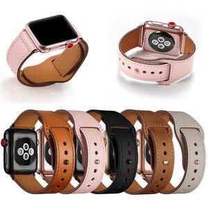 Image 5 - Echt Lederen Horloge Band Strap Voor Apple Horloge Serie 4 3 2 1 42Mm 44Mm, viotoo Vrouwen Luxe Lederen Horloge Band Voor Iwatch