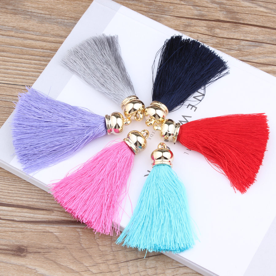Mini Order 10Pcs Long Suede Cord Tassel Pendant Charms Fit Fashion Keyring Phone Chain Earring Garment Handbag Decoration