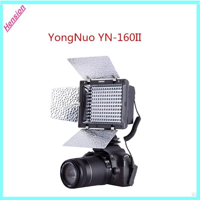 Yongnuo YN-160 II YN160 II 160LEDs Lamp 5600K LED Video Light for Canon Nikon Camera DV Camcorder with Remote Control YN-160II godox led 308y 308 leds professional led video 3300k light with remote control for canon nikon camera dv camcorder