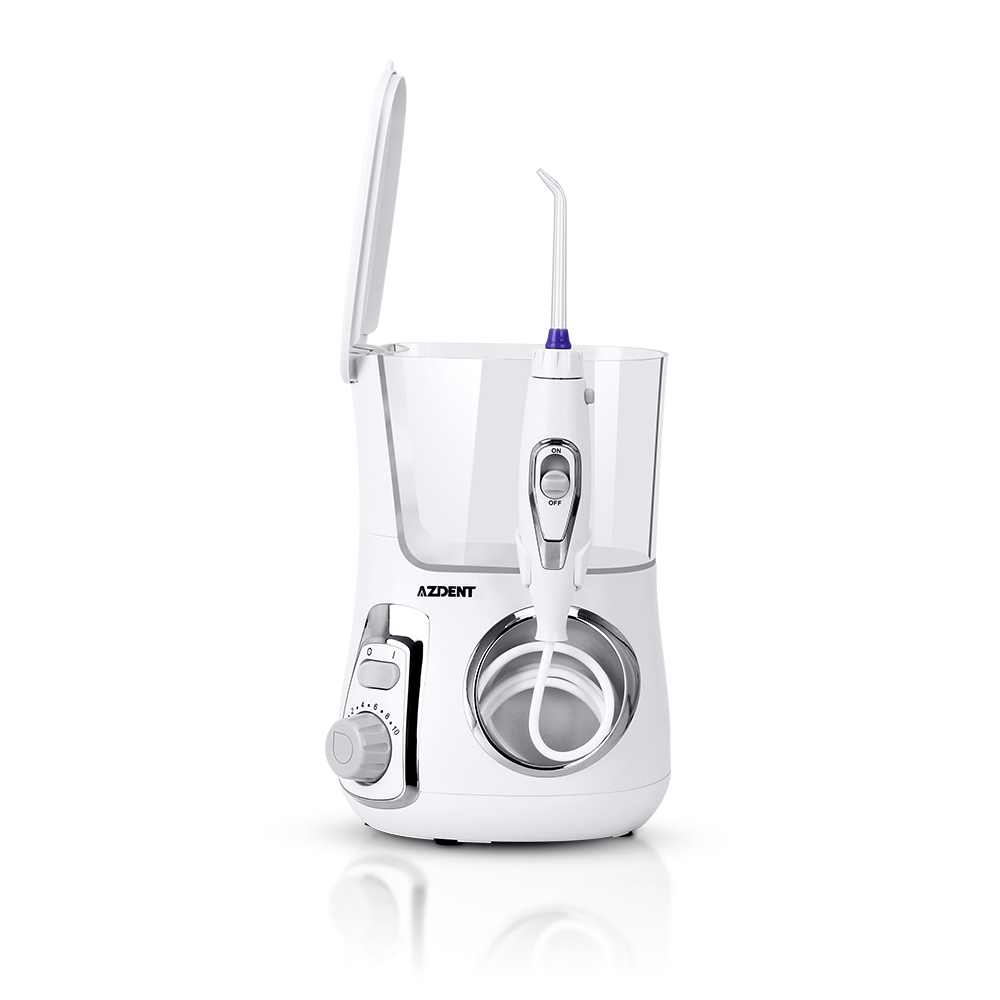 AZDENT LV800 Water Flosser With 5 Tips Electric Oral Irrigator Dental Flosser 800ml Capacity Oral Hygiene For Family