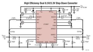 Image 3 - LTC3827 LTC3827EUH LTC3827IUH Low IQ,Dual,2 Phase Synchronous Step Down Controller
