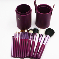 12pcs Professional Portable Makeup Brushes Make Up Brushes Set Cosmetic Brushes Kit Makeup Tools With Cup