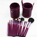 12pcs Professional Portable makeup brushes make up brushes Set Cosmetic Brushes Kit Makeup Tools with Cup holder Case 5 colors