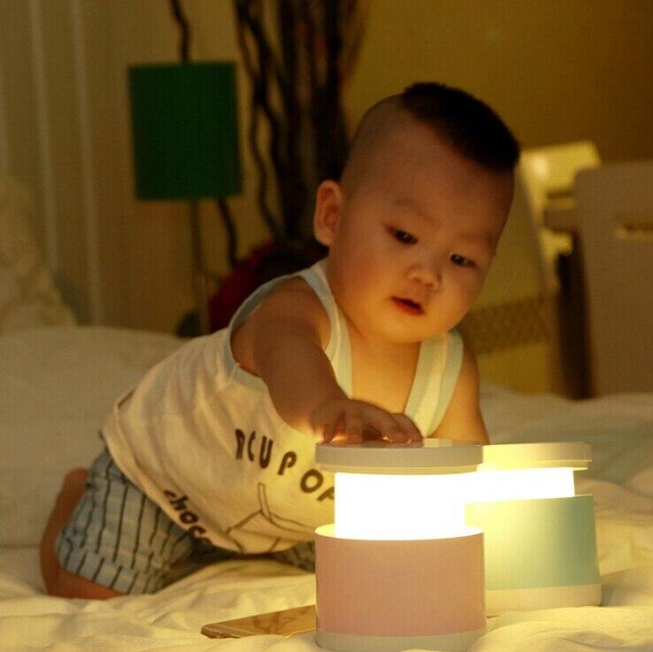 USB ชาร์จโต๊ะข้างเตียงโคมไฟ luminarias กลางแจ้งเด็กนอนกลางคืนสีสัน Telescopic โคมไฟ LED ไฟกลางคืน