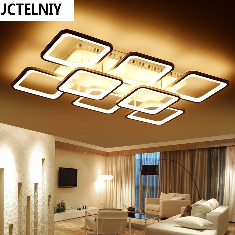 Ultra-thin Acrylic Modern led ceiling lights for living room bedroom Study Room Home Led Ceiling Lamp Free Shipping square white black modern led high quality ceiling lights for living study bedroom kids room ultra thin hot ceiling lamp fixture