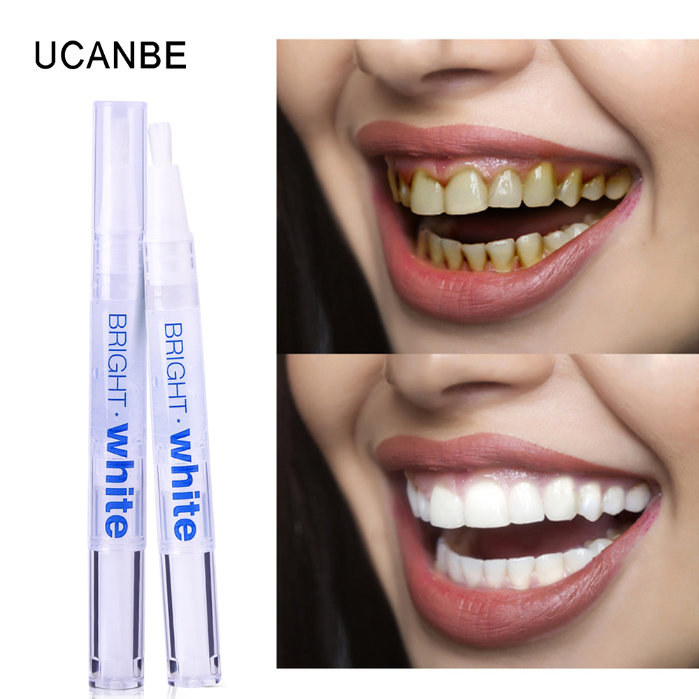1pc UCANBE Teeth Whitening Pen Peroxide Gel Tooth Cleaning Bleaching Kit Remove Stains Brighten Teeth Whitener Oral Dental Care