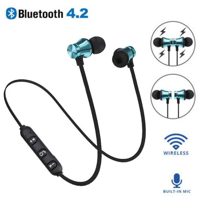 XT11 Sports Wireless Bluetooth Earphones Stereo Headset Waterproof Magnetic Earpiece Headphones With Mic for iPhone Android