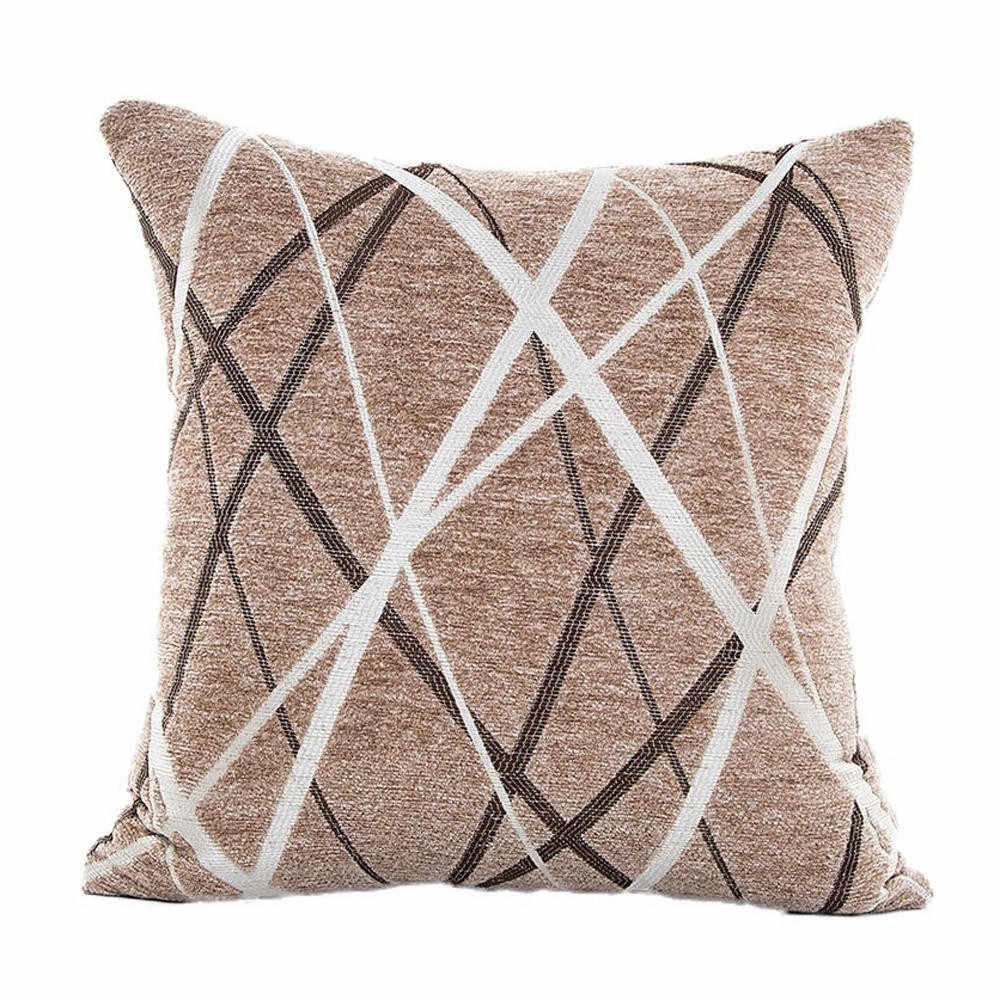 Cushion Brown Stylish Simplicity Cotton Linenet Cushion Cover Sofa Throw Pillow Case Home Decor Decorative Pillows 19May10 P40