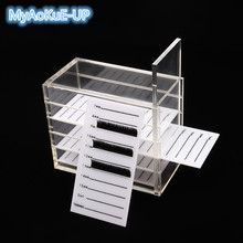 False Eyelash Storage Box 5 Layers Acrylic Pallet Lashes Volume Display Stand Container Individual lash Holder Case Makeup Tools