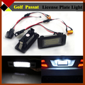 2Pcs  For VW Golf Passat 18-SMD Error Free License Number Plate Bulbs Car High Power 6000K LED Lamps White Free Postage !