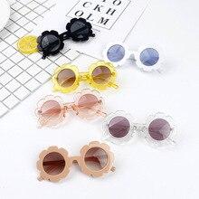 Высококачественные детские цветочные солнцезащитные очки, модные детские очки с подсолнухами для мальчиков и девочек, очки Детские Оттенки для детей