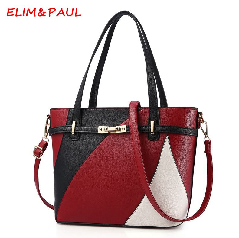 ELIM&PAUL Luxury Handbag Women Bags Designer Tassel Ladies Hand bag Women Pu Shoulder Bag Female Crossbody Bucket Bags For Women