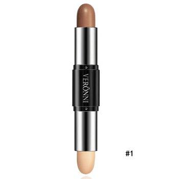 Double-ended 2 in1 Contour Stick Contouring Highlighter Bronzer Create 3D Face Makeup Concealer Full Cover Blemish L4 WD49 Concealer