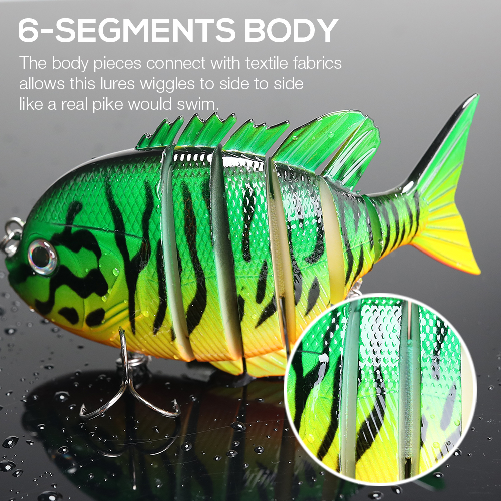 Image 2 - TREHOOK 9.5cm 36g Artificial Big Hard Lure Fishing Lure Jointed Bait Swimbait Crankbaits Fishing Tackle Sea Lures Wobblers Pike-in Fishing Lures from Sports & Entertainment