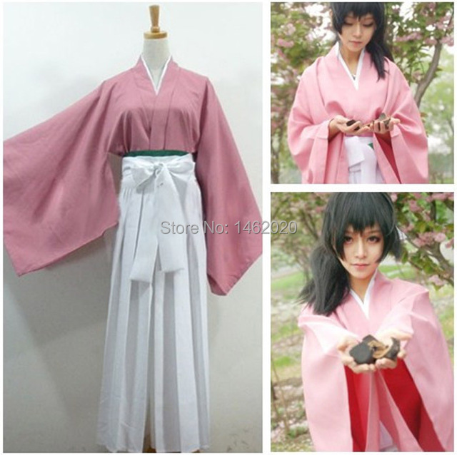 Hakuouki Hekketsu Kimono Yukimura Jiziru Kostum Cosplay Anime Jepang