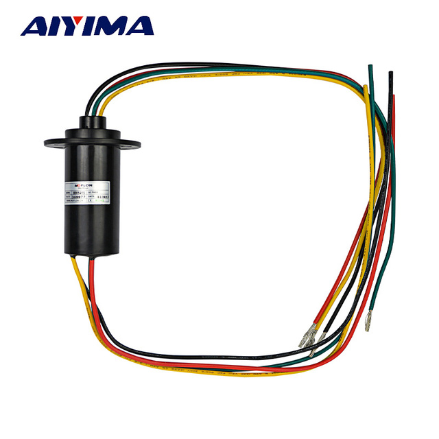 Aiyima NEW 4 Wires 15A 600 VDC/VAC Wind Generator Conductive Slip ...