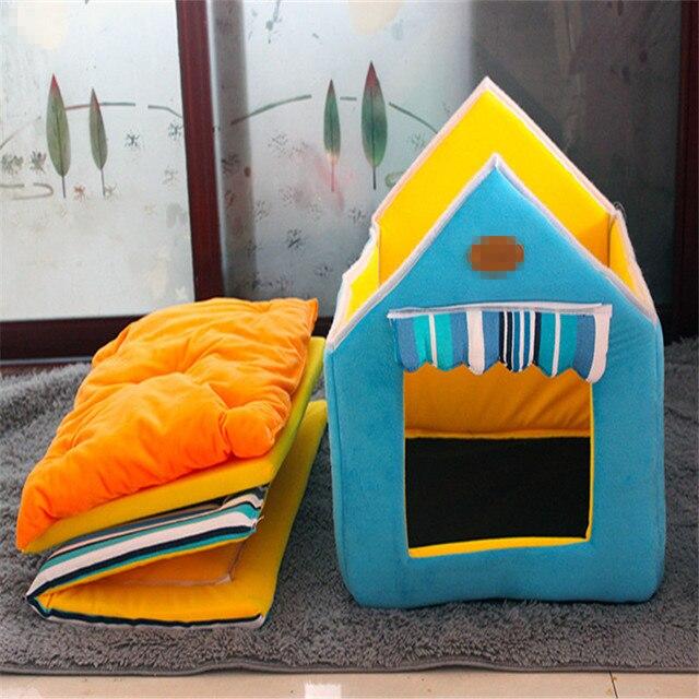 Di modo Rimovibile Lavabile Casa Del Cane di Inverno Caldo Morbido Casa di Cane Forma Letto Con Cuscino Per Cani di Piccola Taglia Media Kennel Nest cane Gatto