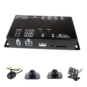 Image 4 - Mini enregistreur DVR Intelligent pour voiture, carte SD, panoramique, surveillance de la conduite, enregistreur de trafic, quatre vues, vidéo, 4 canaux, caméra CCd