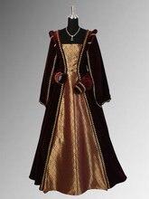 Renaissance Dress Handmade from Velvet and Brocade Multiple Colors Available Renaissance Dresses For Girls Historical