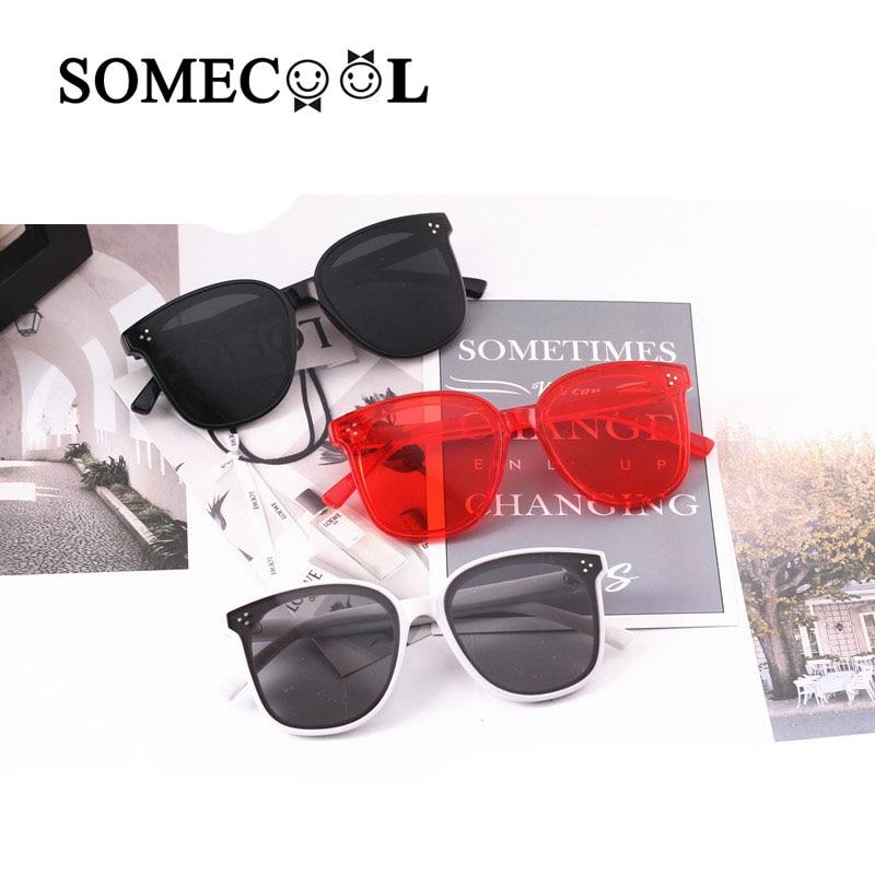 SomeCool 2019 Stylish 3-8y Kids Sunglasses Rivets Square Cute Boy&girls Glasses Vintage Beach Protect UV400 Child Eyewear N325