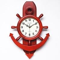 Rudder quality solid wood fashion vintage pocket watch fashion quartz watches and clocks swing rudder wall clock mute