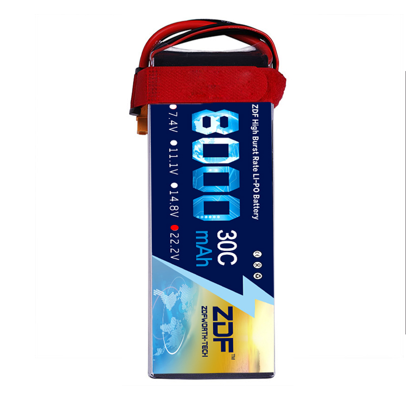 2018 ZDF Good Quality Lipo Battery 22.2V 6S 8000MAH 30C-60C RC AKKU Bateria for Airplane Helicopter Boat FPV Drone UAV dxf bateria akku 3s 11 1v 8000mah 30c lipo battery tplug xt60 ec5 trx traxxas for rc helicopter airplane car boat
