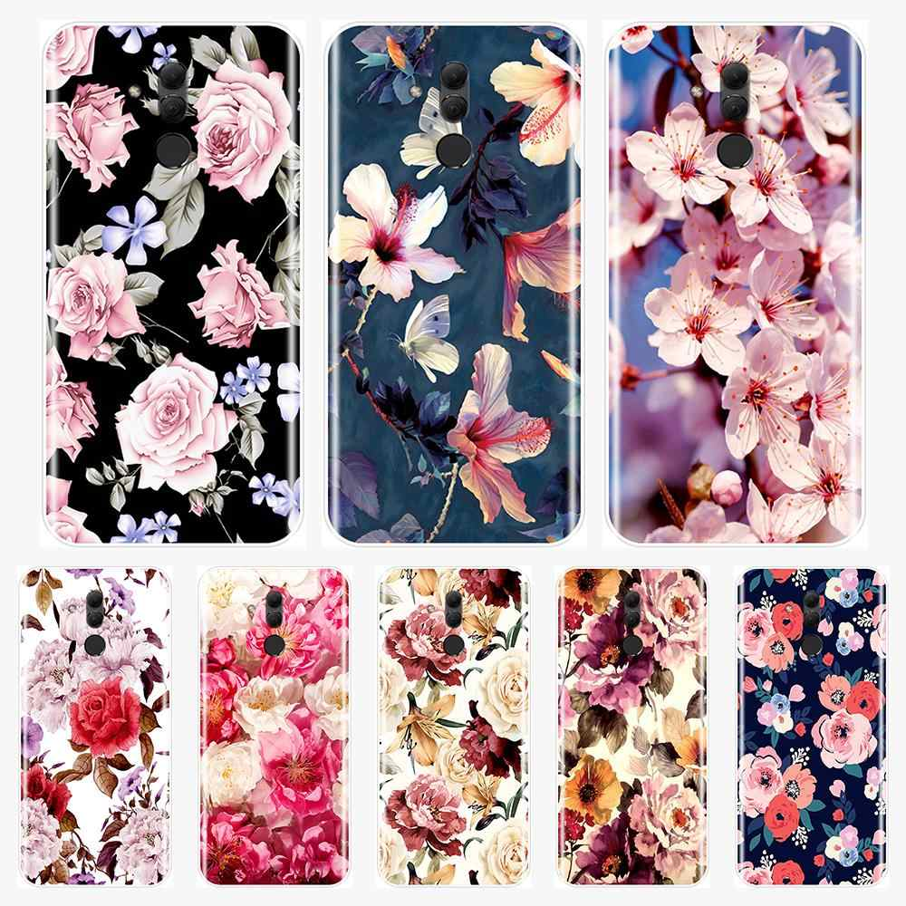 Beautiful Flowers Back Cover For Huawei Mate 7 8 9 10 20 Lite Soft Silicone Phone Case For Huawei Mate 9 10 20 Pro Phone Case