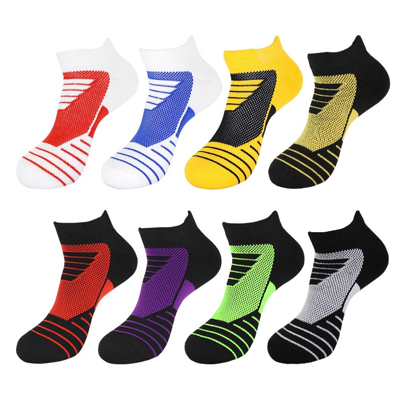 Men Outdoor Sports Basketball Socks Breathable Football Cycling Socks Compression Socks Cotton Towel Bottom Non-slip Men's Socks