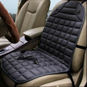 Image 5 - Almohadilla calefactora para asiento de coche, cojín calefactable para asiento de coche de 12V, para invierno