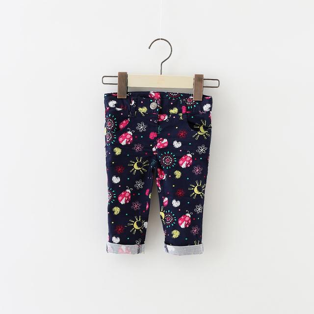 Novo 2016 Moda skinny calças macio e confortável do bebê do bebê meninas leggings crianças meninas Imprimir Estiramento calças cheios topomini 12-24 M