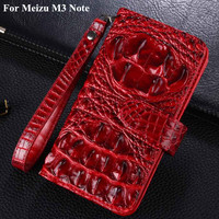 Luxury Wallet Flip Pu Leather Case Cover For Meizu M3 Note Case 3D Crocodile Cell Phone