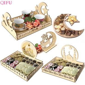 Wooden EID MUBARAK Ramadan Decoration Islamic Ramadan And Eid Decorations For food Eid Al Adha EID Muslim decor Ramadan Gift(China)
