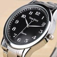 Mens Quartz Watch Luxury Brand Wrist Bracelet Clssp Time Story Simple Fashion Casual Sport Men S