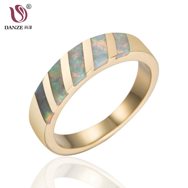 DANZE Simple Gold Color Engagement Rings For Women Inlay Austrian Crystal Female Anillos Gift Jewelry Size 5-11 K0471
