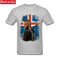 Custom Design Shirts Famous Brand T Shirt Men Iceland Vikings Apparel Boys Novelty Cotton Short Sleeve