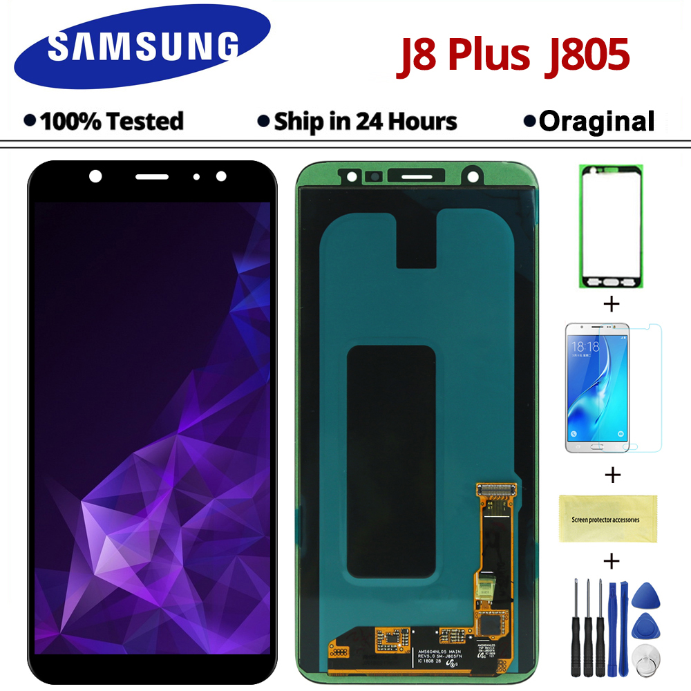 6 4 Black j8 Plus 2018 LCD Touch Screen Digitizer Assembly For Samsung Galaxy j8 Plus