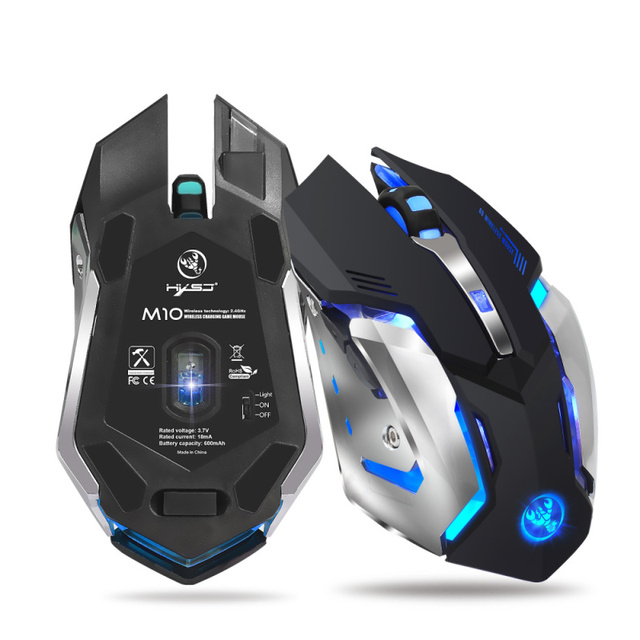 Wireless Rechargeable Plastic Gaming Mouse