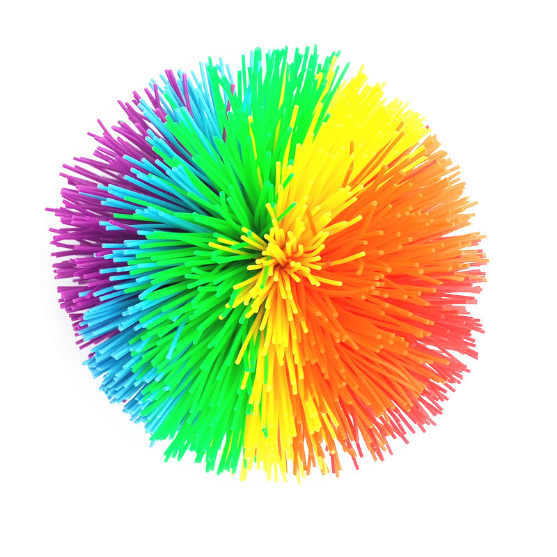 Koosh Ball Silicone Hair Ball Rubber Band Ball Children S