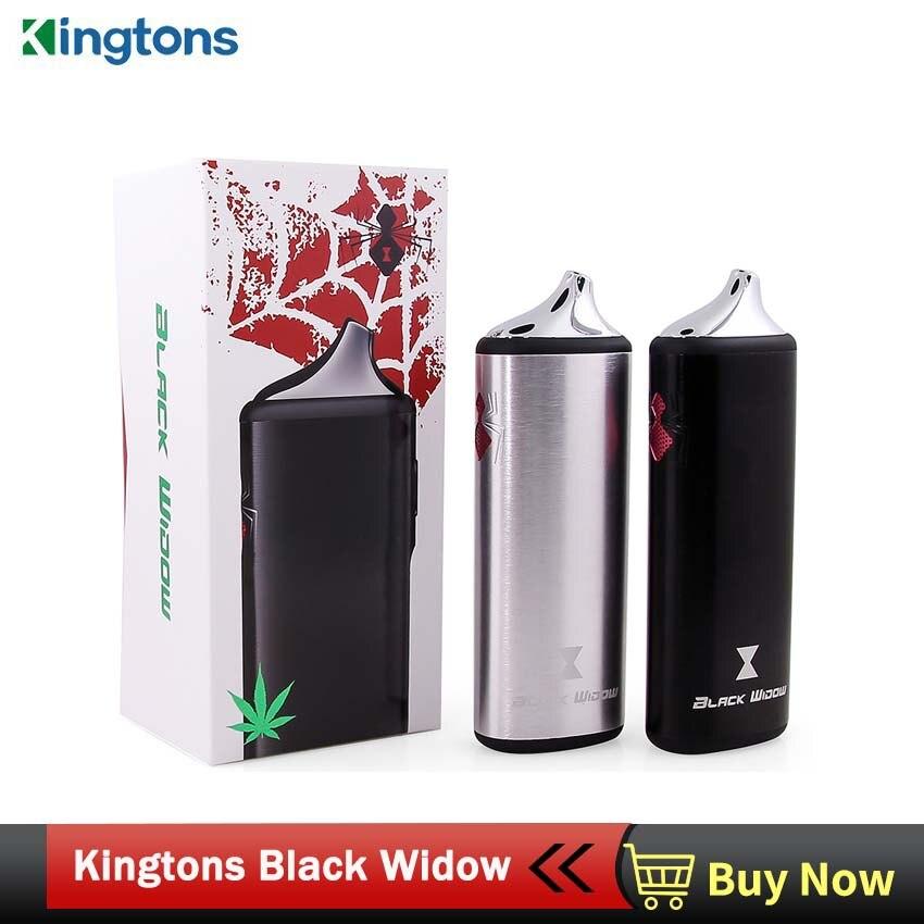 Vaporisateur à base de plantes Kingtons Original boîte à vapeur veuve noire mod vaporizador vape sèche herbe vaporisateur à base de plantes e cigarettes