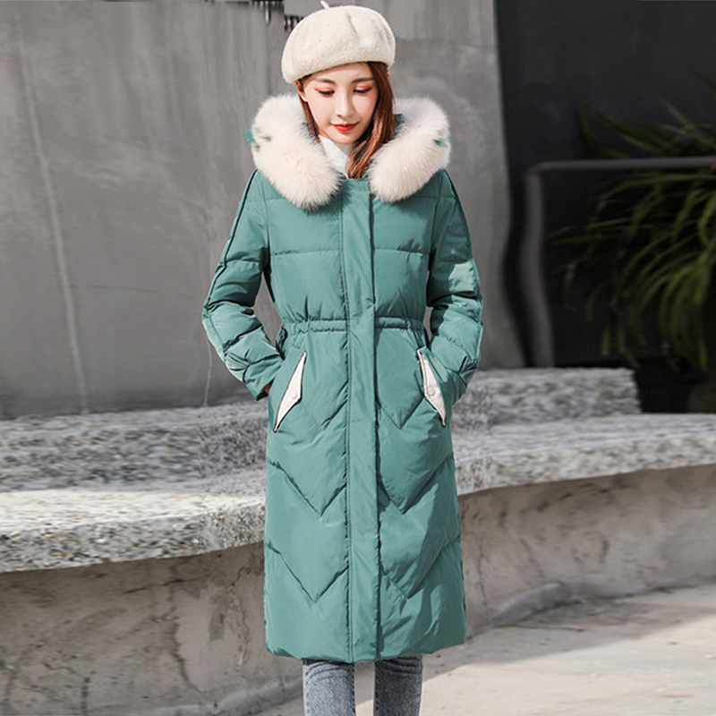 High quality women winter jacket thick snow parka overcoat white duck   down   jacket women   down     coat   Woman Long Female Warm   Coat