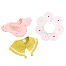 Cotton Flower Baby Bib Fashion Girls Fake Collar Saliva Absorb Bibs For Cute Boys Mouth Towel Clothing