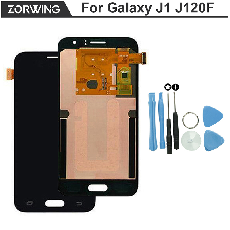 2016 No Dead Pixel Lcd screen For Samsung Galaxy J1 J120F J120DS J120M J120H J120 Display With Touch Digitizer Replacement Parts brand new for samsung j1 lcd display with touch screen digitizer for samsung galaxy j1 j120f j120m j120h sm j120f lcd 3 color
