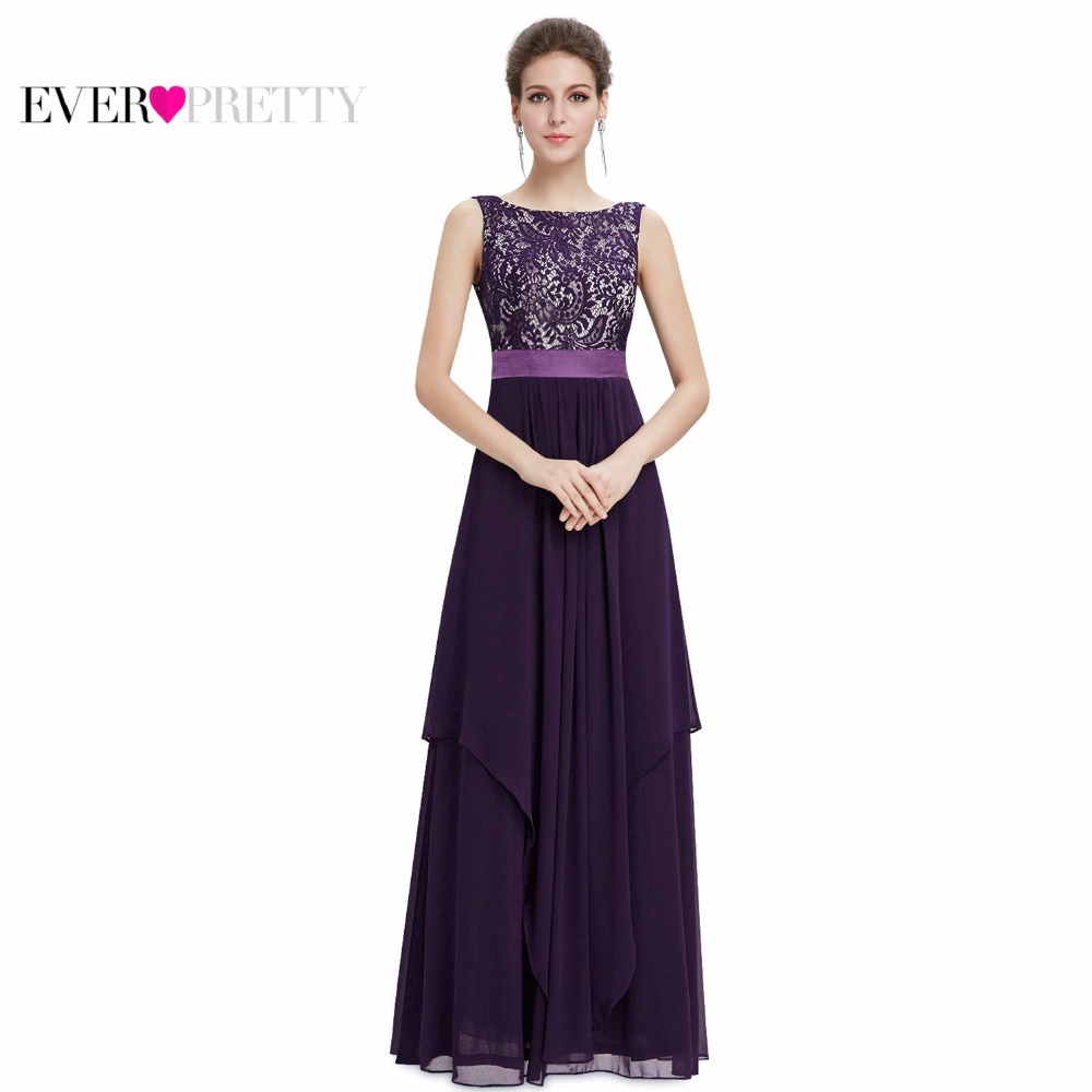 Evening Dresses Newest Free Shipping 8217 Ever Pretty Elegant Sleeveless Round Neck Evening Party Dresses 2018 Formal Long Dress(China)