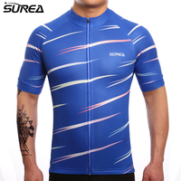 SUREA 2017 Dark Blue Cycling Jersey Short Sleeve Maillot Quick Dry Ropa Ciclismo Mtb Bicycle Clothing