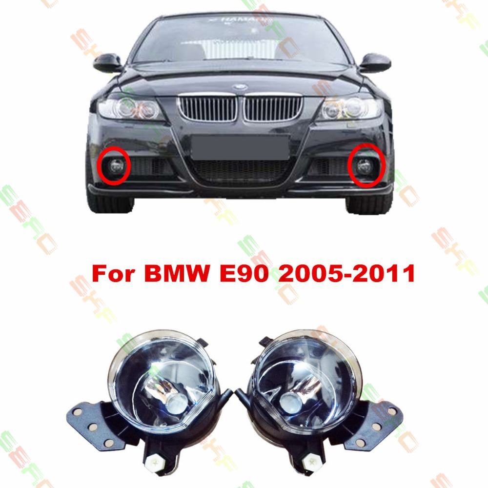 Car styling Fog Lamps  For BMW E90  2005/06/07/08/09/10/11  12 V   1 SET цена 2017